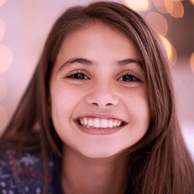 Young girl with healthy smile
