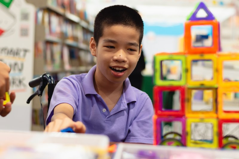 boy with special needs in McKinney